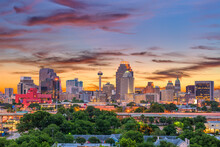 Texas, Sunset Over The City