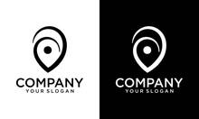 Creative Pin Map Concept Logo Design Template