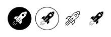 Rocket Icon Set. Startup Icon Vector.