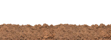 Pile Soil  For Planting Isolated On White Background.with Clipping Path