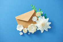 Mail Envelope With Flowers