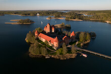 Medieval Castle In The Middle Of Lake