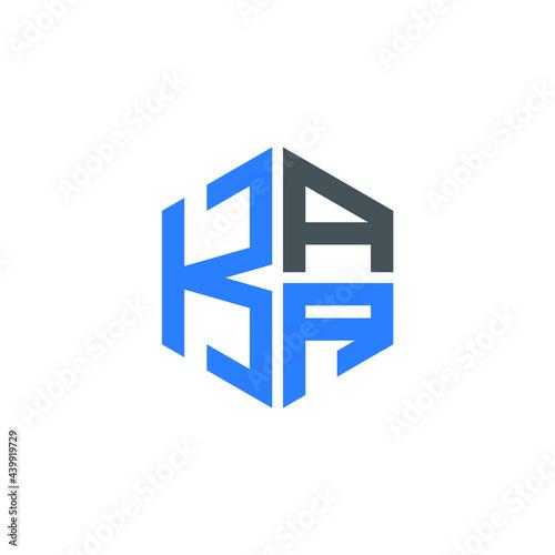 Canvas Print KAA logo KAA icon KAA vector KAA monogram KAA letter KAA minimalist KAA triangle