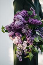 Beautiful Bouquet Of Fresh Lilac In Sunlight