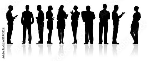 Fotografie, Obraz business man illustration silhouette collection
