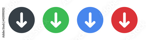 Fotografija Arrow down vector icon
