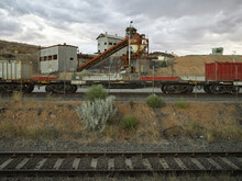 Deserting Mining Site And Railway Track