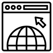 Domain Outline Style Icon