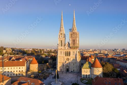 Fototapeta Zagreb Cathedral in Croatia