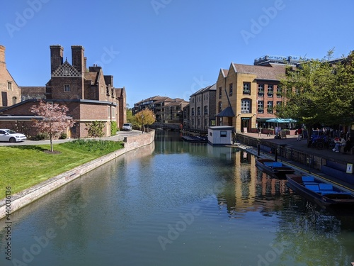 Carta da parati The River Cam near Magdalene Bridge in Cambridge, England
