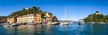 Portofino Harbour In Summer, Genoa, Italy
