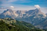 Montagne de Bure vue depuis le massif de Céüse