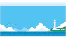 海と灯台のイラスト素材