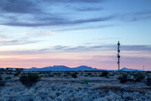 Outback Phone Tower At Sunrise