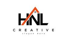 HNL Letters Real Estate Construction Logo Vector