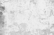 The Walls And Backgrounds Old Cement Walls With Black Stains On The Surface Caused By Moisture. Old Rough Gray Cement Wall Surface For The Background. Peeling Wall Surface With Cracks And Scratches.