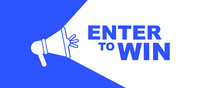 Enter To Win Sign On White Background