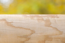 Natural Wood Log With Unfocused Background