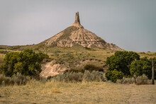 Chimney Rock Is A Natural Geologic Formation, A Remnant Of The Erosion Of The Bluffs At The Edge Of The North Platte Valley In Nebraska.