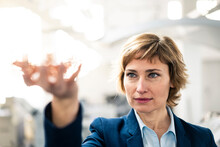 Mature Female Entrepreneur In Printing Industry