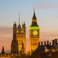 UK, England, London, Elizabeth Tower Palace Of Westminster And Big Ben At Dusk