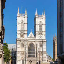 UK, England, London, Facade Of Westminster Abbey