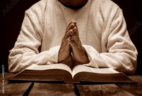 Fotografiet Jesuschrist praying
