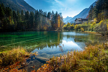 Scenic View Of Christlessee Lake In Autumn