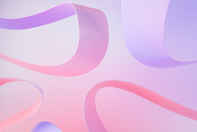 3D Illustration Of Pink And Purple Lines
