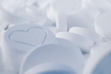 Pills With Social Media Likes 3D Illustration