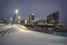 Germany, Hamburg, Elbe Philharmonic Hall At Night In Winter