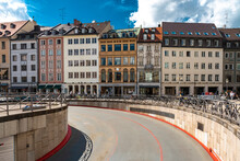 Road Towards Max-Joseph Square By National Theater At Munich, Bavaria, Germany