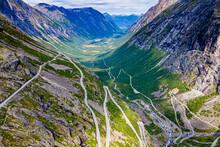 Famous Trollstigen Winding Road Amidst Mountains
