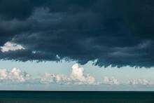 Dark Storm Clouds Over Pacific Ocean