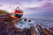 MV Alta Ghost Ship The MV Alta, Which Washed Up On The Southeast Coast Of Ireland In County Cork, On The 16th Of February 2020 Ballycotton By Storm Dennis - Ireland
