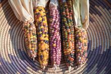 Glass Gem Corn In Basket
