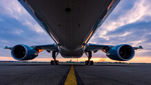 Dublin, Ireland, 8.12.2021 Dublin Airport Norvegian Dreamliner 787