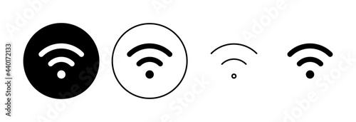 Fotografia Wifi icon set. signal vector icon. Wireless  icon vector