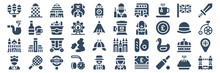 Set Of 40 England Web Icons In Glyph Style Such As Queen, Cathedral, Smoke Pipe, Bulldog, Postbox, Tower Bridge. Vector Illustration.