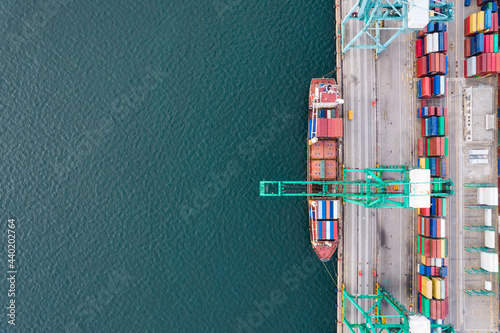 Fotografering Aerial photography of container terminal