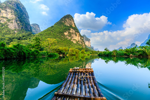 Canvastavla Beautiful mountains and clean water in Guilin,Guangxi,China
