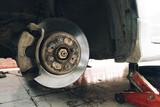 Rusty car disc brake