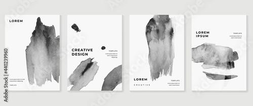 Canvas Print Cover design vector set