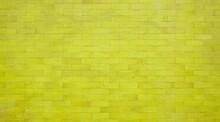 Backsteinwand Mit Gelber Farbe Als Hintergrund