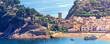Spain Landscape Tossa de Mar Castle, popular place
