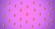 Leinwandbild Motiv Composition of repeated ruler and set square on purple background