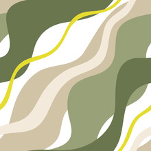 Seamless Vector Pattern With Wavy Lines
