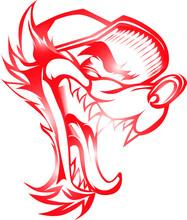 Vector Illustration Of Wolf Gradation