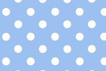 Seamless Background With Circles, Seamless Background With Circles,  Blue Polka Dot Background