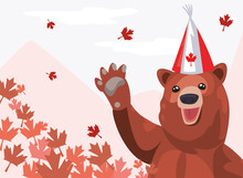 Canada Bear With Hat